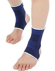 Daorier 1paire Bleu Cheville pour pied support protéger Coussinets pour les entorses/arthrite/douleurs générales/Soulagement de blessures