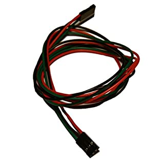 UEETEK 10pcs 70cm 3 Pin Buchse auf Buchse Jumper Wire Dupont Kabel für 3D Drucker