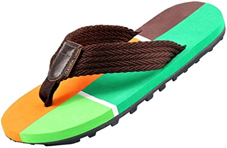 Baymate Contraste Color Chanclas Para Hombre Playa Zapatos Sandalias  -
