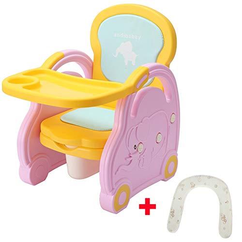 LXLA - seggiolone per seggiolone Multifunzione per Bambini, vaschetta per Toilette Neonato/per Bambini - con Vassoio Rimovibile (Colore : Style 1)
