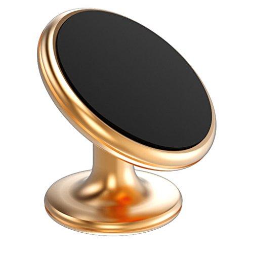 Y U Y E Handyhalterung Halter Auto Auto Handyhalter Center Console Magnetische Armaturenbrett Magnet Adsorption Stand Handy Tablet Navigator Universal (Farbe : Gold)