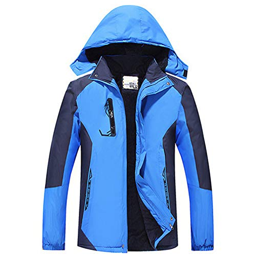 YUAND Outdoor Thin Jacket Wasserdichtes Winddichtes Gewebe Komfortable Casual Overall für Frühling Herbst Blau 2XL