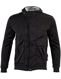 SODIAL (R) Ropa de Hombres Casual delgado Diseno cremallera abrigo chaqueta sueter con capucha Tops (Negro) - M