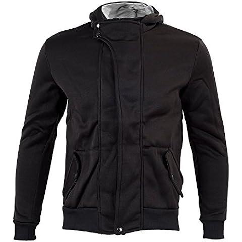 SODIAL (R) Ropa de Hombres Casual delgado Diseno cremallera abrigo chaqueta sueter con capucha Tops (Negro) -