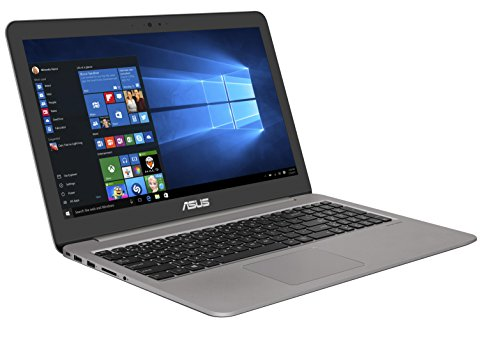 Asus Zenbook UX510UW-CN051T 39,6 cm (15,6 Zoll mattes FHD) Notebook (Intel Core i7-7500U, 16GB RAM, 256GB SSD, 1TB HDD, NVIDIA GeForce GTX960M, Win 10 Home) grau