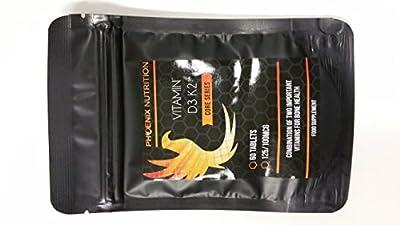 VITAMIN D3 (5000iu) & K2 (100mcg) x 60 Tablets as Menaquinone from Phoenix Nutrition