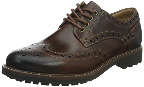 Clarks Montacute Wing 203517867070, Chaussures basses homme Marron (Dark Tan Lea)