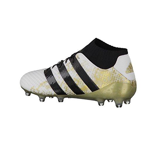 adidas Ace 16.1 Primeknit FG - Fußballstiefel - Herren, Weiß, 48 Multicolore (Ftwwht/Cblack/Goldmt)