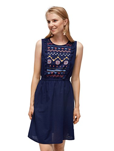 TOM TAILOR Denim Frauen Kleider & Jumpsuits Kleid mit Stickereien