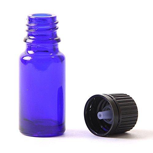 6x Blau Glas Flasche (15ml) mit manipulationssicherer schwarz Dropper Kappe. Geeignet für Aromatherapie, Kunst, Handwerk, Erste Hilfe, Bart Öl, Seren, Duftöle etc. -