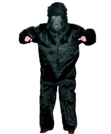 (Plüsch-Overall Gorilla, schwarz Einheitsgröße)