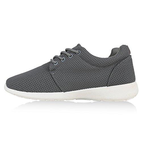 Modische Herren Sportschuhe | Freizeit Sneaker Snake | Laufschuhe Runners Trainers | Sneakers Schuhe Grau