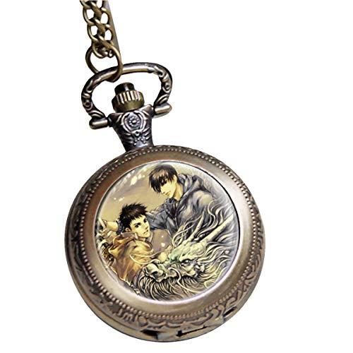 s Kylin Zhang und WuXie Pattern Pocket Watch Medaillon Halskette mit Schmuckkästchen Time Raiders Halskette für Mädchen, Mädchen Style F ()