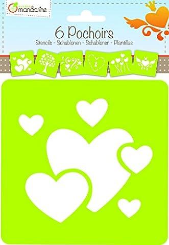 Avenue Mandarine 42640O - Set 6 Schablonen Herzen