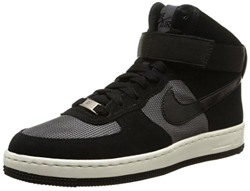 Nike W Af1 Ultra Force Mid, Scarpe sportive, Donna, Multicolore (Black/Black-Dark Grey), 38