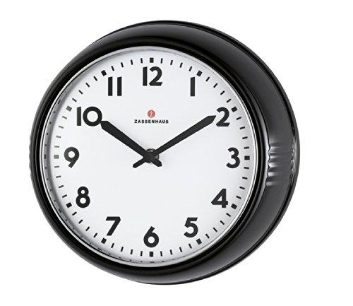 Zassenhaus 72716 Retro Wand-Uhr, Durchmesser 24 cm, schwarz (Wand-uhr)