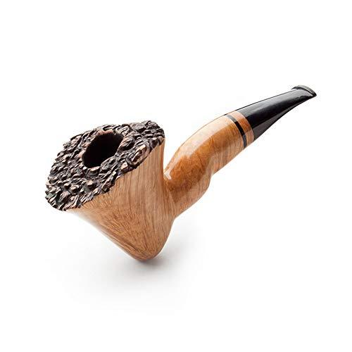 Holz Kopf Material ganze Holz ganze Massivholz handgemachte Tabak Rohr gebogen Retro Vintage Rohr zu senden Raucher Zubehör Set Geschenk High-End-Qualität ()