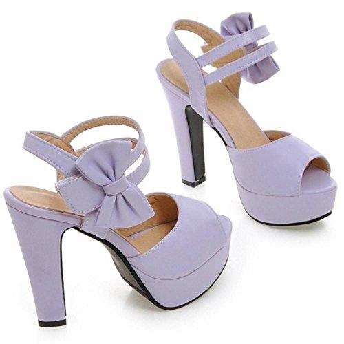 RAZAMAZA Femmes Peep Toe Sandales Chaussures purple