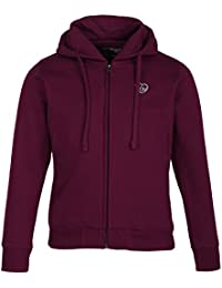 Cayman Girls Burgundy Solid Hooded Sweatshirt