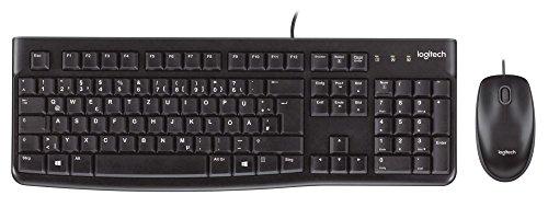 Logitech MK120 Tastatur und Maus Combo (Qwertz- Deutsches TastaturLayout) schwarz