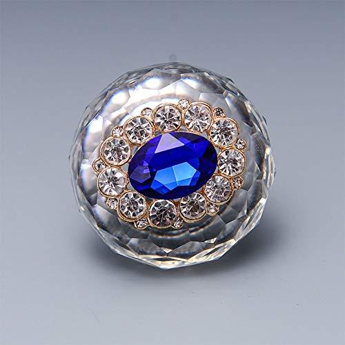 LanLan Schrank K¨¹chen Griff 40mm Luxuri?se Kristall T¨¹rgriffe Zink legierung Zuggriff f¨¹r Schrank Schublade Kleiderschrank Schrank K¨¹che T¨¹r F¨¹r ein besseres Leben ovale blauen diamanten -