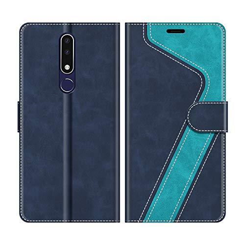 MOBESV Handyhülle für Nokia 3.1 Plus Hülle Leder, Nokia 3.1 Plus Klapphülle Handytasche Case für Nokia 3.1 Plus Handy Hüllen, Modisch Blau