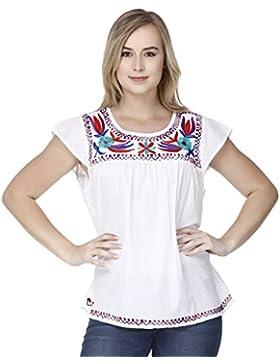 De las mujeres Sayo Tee Tops Corto Manga Redondo Cuello Camisetas Algodón Casual Blusa