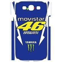 Samsungn Galaxy S3 3D Cell Phone Case White Valentino Rossi VR 46 Custom Case Cover QW8I568110