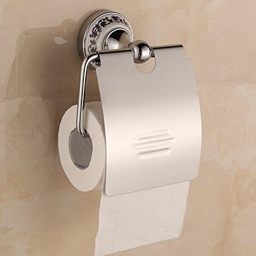 QUEEN'S Blau und Weiß Porzellan Sockel Lünette Wasserdicht Edelstahl Toilettenpapierhalter Wc Rollenhalter Toilettenpapierhalter wasserdicht
