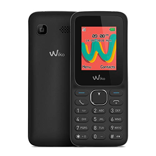 Wiko Lubi5 Plus - Teléfono móvil Libre con Teclas de 1,8' (Dual SIM, Radio FM, admite microSD, Bluetooth, Linterna LED y Reproductor MP3) Color Negro