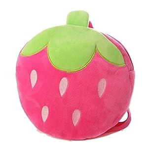 Creativas precioso 3D relleno de frutas Kindergarten para ni?os Schoolbag Peluche Plush Dolls