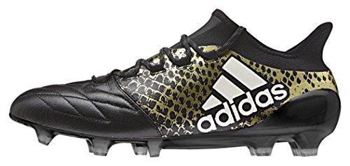 adidas X 16.1 Fg Leather, Scarpe da Calcio Uomo Multicolore (Cblack/Ftwwht/Goldmt)