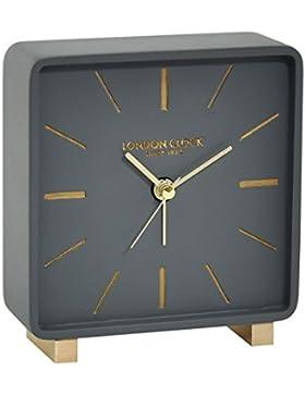 Tischuhr mit batteriebetriebenem Quartzwerk London Clock -grau 12cm- 03171