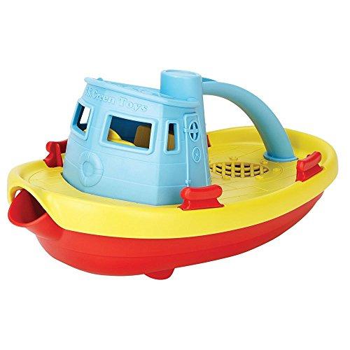 Green Toys TUG01R-B -Dampfschiff, gelbes Deck -