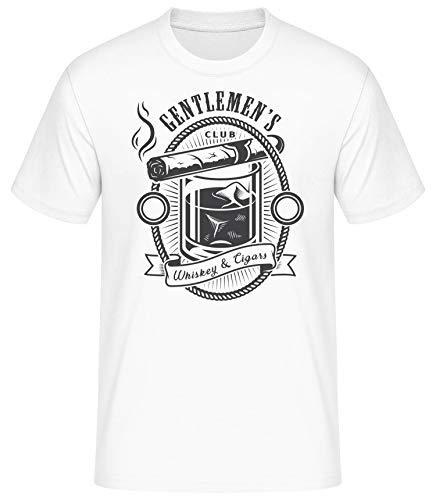 Shirtinator Männer Gentlemen's Club Zigarre T-Shirt | Junggesellenabschied Geschenkidee für Herren | Witziges T-Shirt (Weiß/3XL) (Kostüm Vegas Party Ideen)