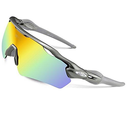 DUCO 0028 Gafas de Ciclismo Polarizadas con 5 Lentes Intercambiables D