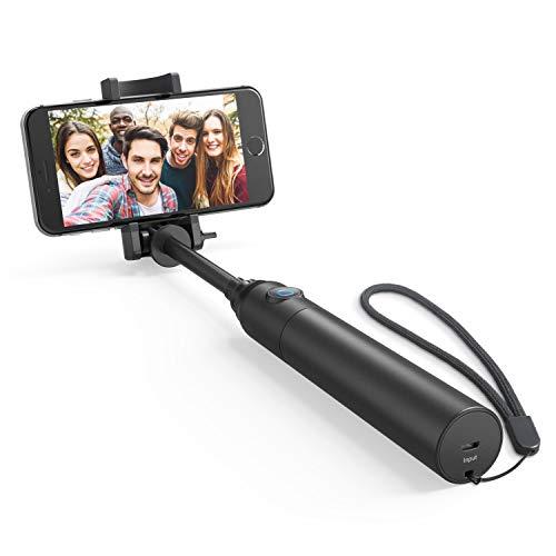 Anker Premium Bluetooth Selfie Stick Stange Stab mit 20 Stunden Akkulaufzeit für iPhone 7 / 6, Android und alle anderen Smartphones (Schwarz)