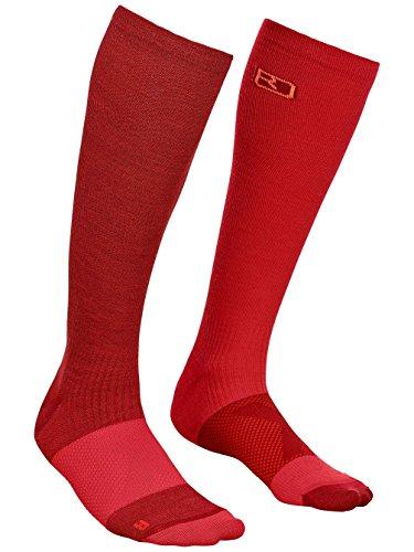 Ortovox Damen Ski Compression Socken, Dark Blood, 35-38 Preisvergleich
