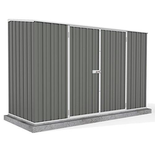 10-x-5-grey-pent-roof-metal-garden-shed-easy-build-double-door-grey-by-waltons