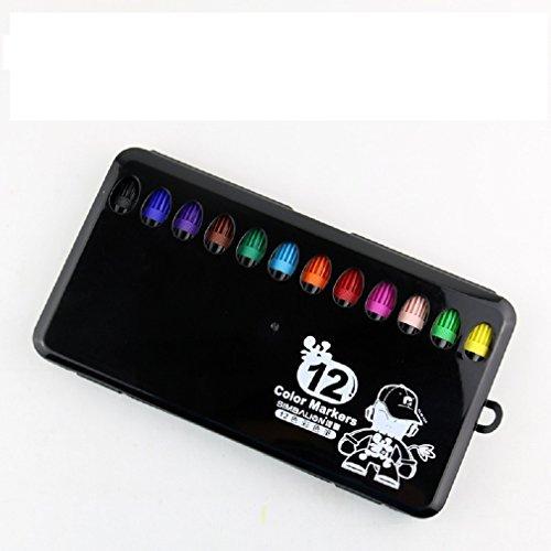 Aquarell-Stifte, Satz von 36 Farben für die Karte, die DIY Fotoalbumgebrauch auf irgendeiner Oberflächenplastikglasplastikkeramik macht (Schulter Tasche Unterschrift)