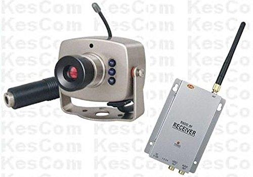 Aus Farb-mini-kamera (KesCom® 803N Mini Farb Funk Kamera Security Überwachung , Kanal 1 bis 4 erhältlich (nicht einstellbar) inkl. 4 Kanal Empfänger 2,4 GHZ)