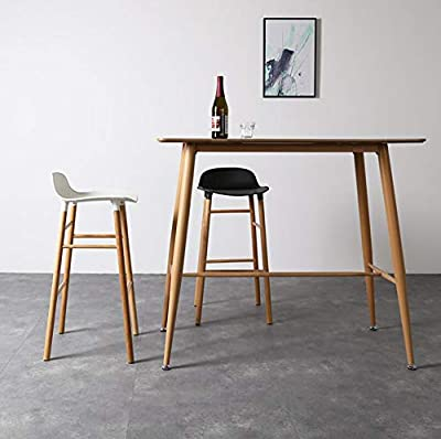 Massivholz-Barstuhl kreative Persönlichkeit Barstuhl einfacher Hochstuhl (Farbe: Weiß) von WG - Gartenmöbel von Du und Dein Garten