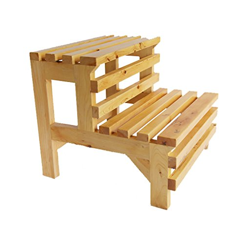 MyAou-Shower Chair Massivholz Fußhocker Doppel Fußhocker Badezimmer Badewanne Hocker Doppelhocker Fußhocker Holzfass -