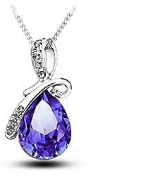 In argento sterling con pendente in cristallo Swarovski Elements collana per le donne