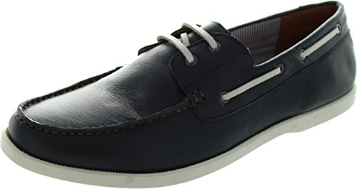 Lotus Men's HOLBROOK Navy Leather Boat Shoes 8