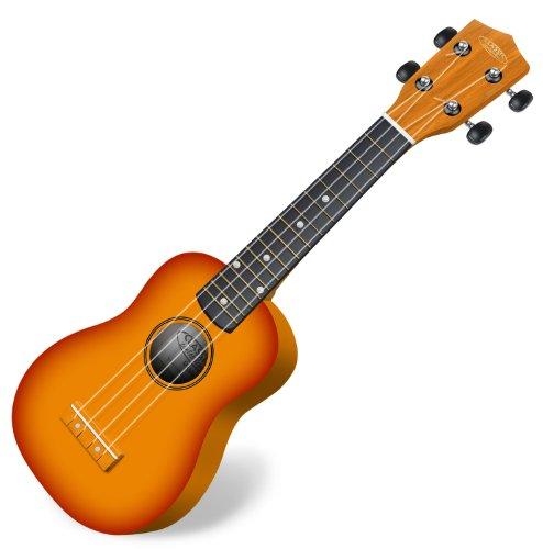 Classic Cantabile US-100 SB Sopranukulele (Ukulele, Uke, 15 Bünde, leichtgängige Gitarrenmechanik) sunburst