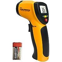 Thermomètre Infrarouge, Helect Sans Contact Laser Thermomètre Infrarouge de -50°C à 550°C avec Ecran LCD Rétroéclairé