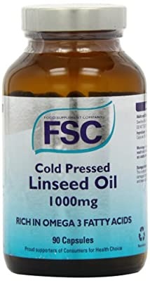 FSC 1000mg Organic Cold Pressed Linseed Oil - Pack of 90 Capsules from Bee Health