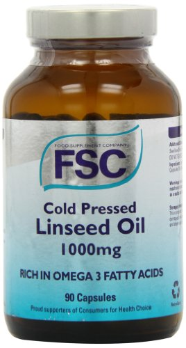 FSC 1000mg Organic Cold Pressed Linseed Oil - Pack of 90 Capsules Test