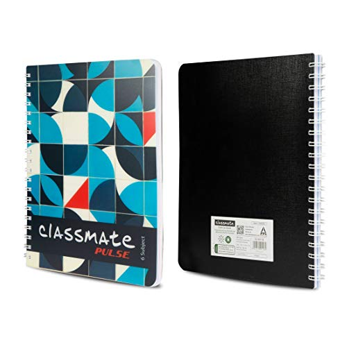 Classmate Premium 6 Subject Spiral Notebook - 203mm x 267mm, Soft Cowl, 300 Pages, Unruled Image 4